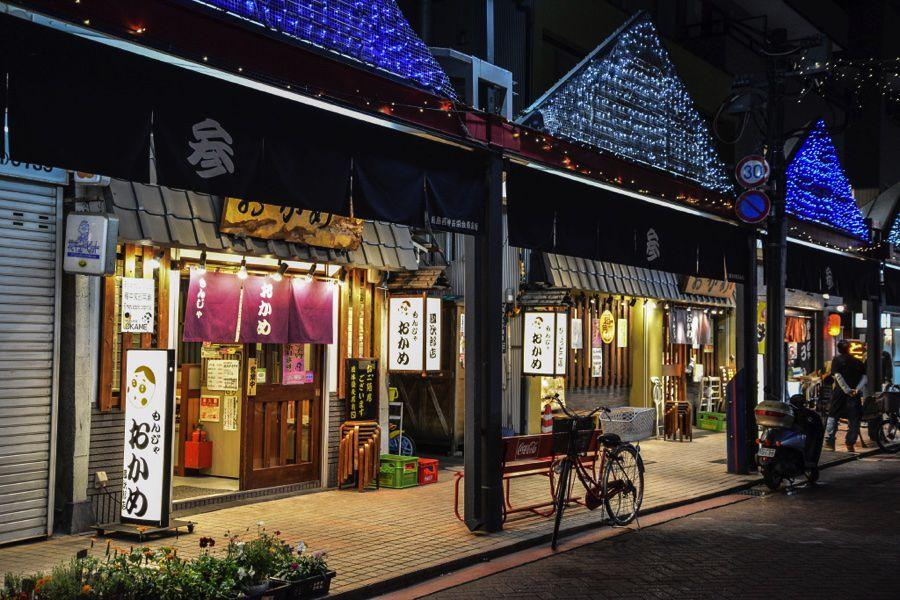 夜の東京:月島、新橋機関車広場、渋谷